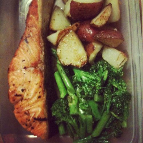 Salmon, Broccoli, & Roasted Potatoes